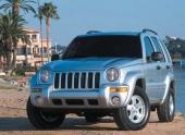 2002 Jeep Liberty tillverkas i två versioner. Den lite enklare Sport och den mer påkostade Limited, som här ses posera på en badstrand i USA.