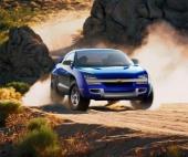 I rasande fart sveper 4-hjulsdrivna Borrego fram även i avancerad terräng. En ny typ av fordon som har framtiden för sig.