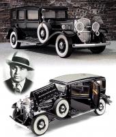 Al Capone´s välkända 1930 Cadillac V-16 Imperial Sedan i skala 1/24 från Franklin Mint