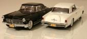 1956 Continental Mark II i skala 1/18 från Yat Ming är Black & White för finsmakare