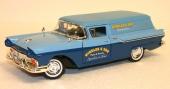 God firmareklam med representativa 1957 Ford Courier från Yat Ming