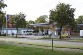 Den skandalomsusade bensinstationen Statoil på Skaraborgsgatan i Skara.
