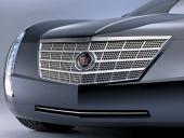 Grillen visar omedelbart att det är en ny Cadillac, men liksom aktern är fronten väldigt oskyddad. Får vi be om en stor, kraftig, kromad stötfångare?