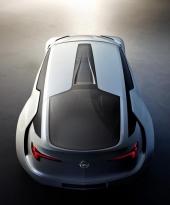 Extrem design kännetecknar Opel Flextreme GT/E.