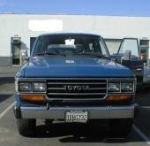 Under 1987 kom FJ62 med dubbla rektangulära strålkastare. Fordonet på bilden är dock av 1989 års modell.