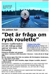 Poliser i vansinnesfärd genom Stockholm?