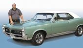 Paul Zazarine vid sin favoritbil, Pontiac GTO.
