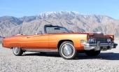 Cadillac Eldorado Convertible är alltid eftertraktad. Här som 1973 års modell. I detaljer skiljer sig designen från alla andra årsmodeller.