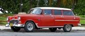 En välhållen 1955 Chevrolet Station Wagon, i stort sett i originalutförande.