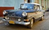 Och då får ju lillebror vara med också. 1958 Opel Rekord med dubbla extraljus i grillen. Opel Rekord såldes av Buick-handlarna i USA.