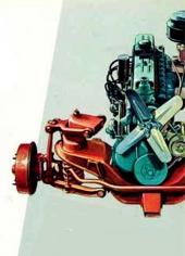 Den raka toppventilsexan tillsammans med en förbättrad framvagnskonstruktion.