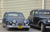 En Jaguar som för många år sedan förirrat sig till Cuba. Ser sliten ut, men otvivelaktigt fullt fungerande som bruksbil.