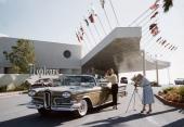 Tidig reklam med 1958 Edsel Citation.