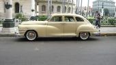 En storslagen Chrysler från cirka 1947 och i ett härligt originalutförande! Inget ombyggt, korrekt färgsättning. Till och med originalfälgar och däck med vit sida!