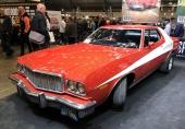 Årets tema ansågs vara filmbilar och en rejäl samling hade samlats, som denna 1974 Ford Torino från Starsky and Hutch.
