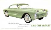 Chevrolet Biscayne som concept-bil 1955. Observera att de bakre dörrarna är felvända och att vagnen har en skulpterad, som senare skulle dyka upp på Corvette, men då åt andra hållet.