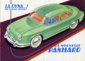 En tidig reklambroschyr för Panhard Dyna.