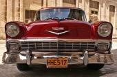 Vem påstod att det bara fanns rishögar på Cuba? 1956 Chevrolet i perfekt skick lackerad i originalkulör!