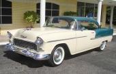 1955 Bel Air Sport Coupe i Neptune Green Metallic och Shoreline Beige