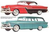 Två versioner av Plymouth Belvedere. Notera den lilla mösskärmen ovanför vindrutan på Sport Coupe.
