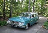 1961 Rambler Ambassador Custom Cross Country Station Wagon, med sin mycket personliga design av fronten. Motorn var en 327 V8 på 270 hk.