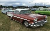 1958 Bonneville känns igen på bland annat takets utformning över bakrutan och det faktum att den är aningen kortare än exempelvis 58 Pontiac Star Chief. Det beror på att Bonneville delade grundkaross med det årets Chevrolet Impala.