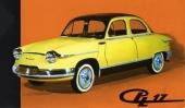 Panhard PL 17 fanns även i en lyxmodell med läcker 2-färgslackering, mer kromlister och däck med vit sida.