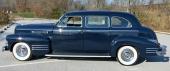 Profilen på Series 75 Fleetwood Limousine. Dessa vagnar hade alltid aningen kraftigare bakfjädrar så vagnen inte skulle se nedlastad ut med kanske 500 kg direktörer eller finansfurstar!