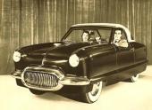 Conceptbilen NXI (Nash Experimental International), som blev en föregångare till Nash Metropolitan.