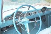 Instrumentpanelen på 1956 Bel Air ansågs snygg och funktionell.