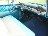 Ytterligare en inredningsvy av 1956 Chevrolet. Här i en Bel Air Nomad.