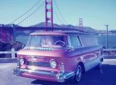 En tjusig originalbild med GMC vid Golden Gate.