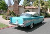 Med 1957 års modell gjorde stjärtfenan sitt tydliga intåg även hos Chevrolet.