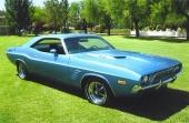 1972 års Dodge Challenger fick ny front och lite surare uppsyn. Kanske saknade bilen tidigare potenta motorer?