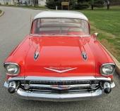 Den fulländade designen på 1957 års Chevrolet.