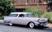 En mycket sällsynt färgkombination på 1957 Bel Air Nomad.