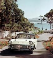 En sann njutningsbild av en fabriksny 1957 Bel Air Nomad.