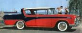 1956 fanns även Nash Rambler med 3-färgslackering. Dessutom var man först med att erbjuda 4dr Hardtop! På bilden en Nash Rambler Custom Hardtop Sedan.